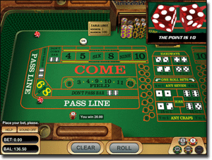 Craps for Real Money Online at G'Day
